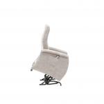 Witte fauteuil met sta-op hulp