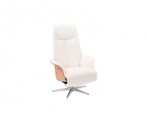 Witte draaibare stoel